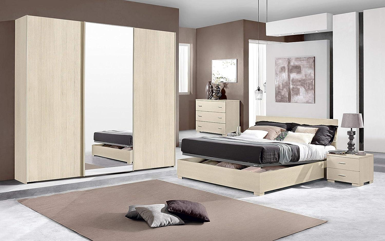 Dafnedesign.Com - Dormitorio Completo - Efecto Pino Claro (Cama de ...