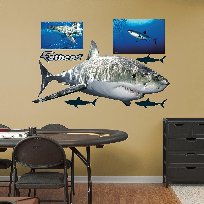 Amazon.com: Fathead Great White Shark Real Big Wall Decors: Home ...
