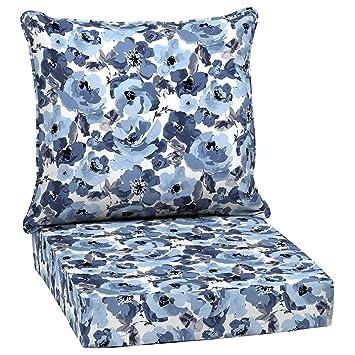 Amazon Com Home Improvements Blue Watercolor Floral Outdoor Patio