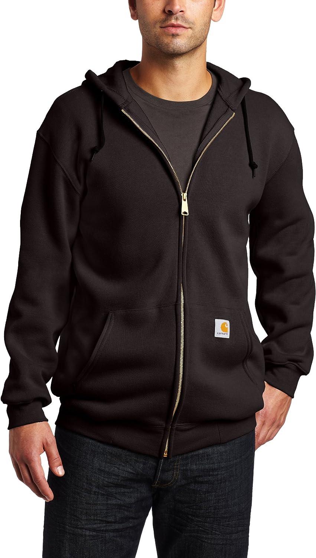 Carhartt Men's Midweight Hooded Zip Front
