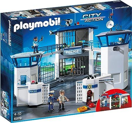 PLAYMOBIL City Action Comisaría de Policía con Prisión, a Partir de 5 Años (6919): Amazon.es: Bricolaje y herramientas