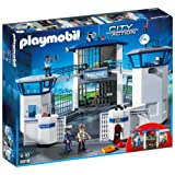 Playmobil 6919 City Action Police Station with Prison with 2 Police Officers and A Prisoner Toy