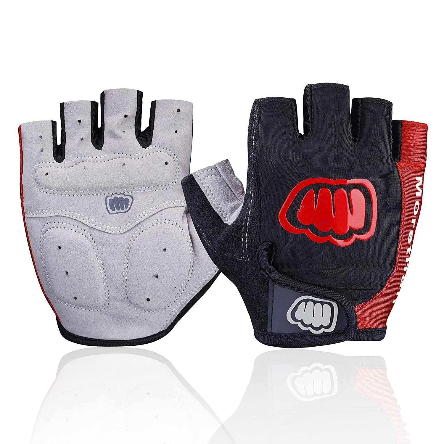 Ultralight Cycling Gloves (Half Finger) - Shockproof Lycra & Anti-Slip - Absorbing Silica Gel Grip, Mountain Road Bike Gloves Men/Women Morethan