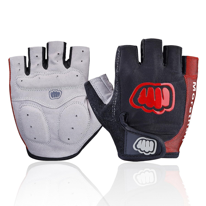 Ultralight Cycling Gloves (Half Finger) - Shockproof Lycra & Anti-Slip - Absorbing Silica Gel Grip, Mountain Road Bike Gloves Men/Women Morethan