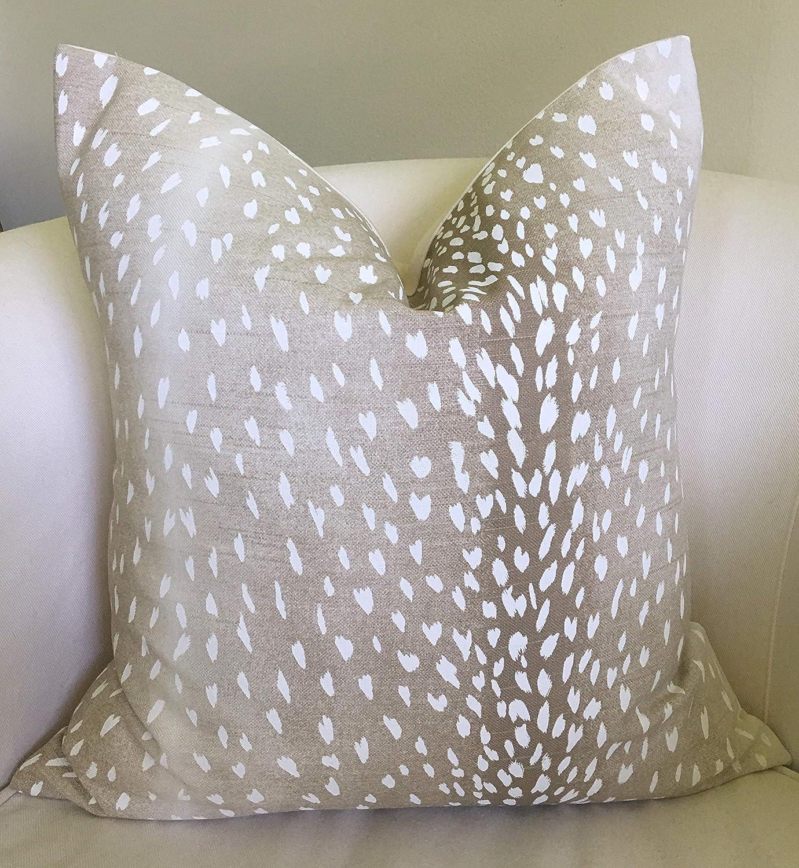 Amazon Com Flowershave357 Antelope Print Pillow Animal Print Pillow Cover Beige Neutral Decor Fawn Throw Pillow Decorative Pillows Home Kitchen