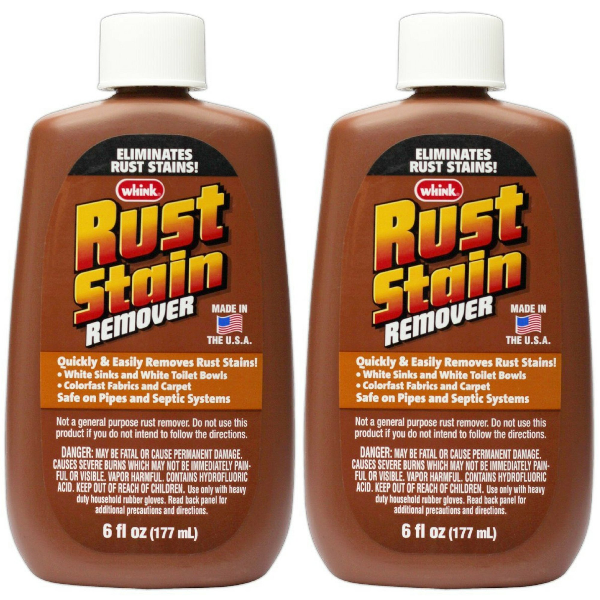 Whink Rust Stain Remover 6 Ounce (1, 2 Pack - 6 oz)