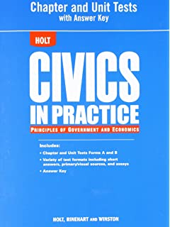 Amazon civics in practice student edition 2011 9780547318363 civics in practice principles of government and economics chapter and unit tests fandeluxe Gallery
