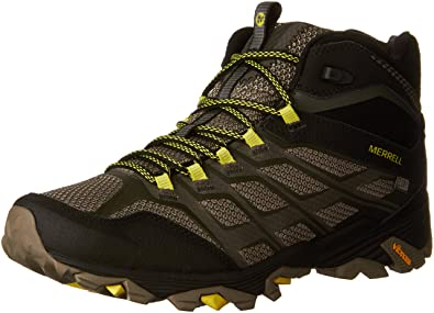 64ca7e88c Amazon.com | Merrell Men's Moab Fst Mid Hiking Boot, Olive Black ...