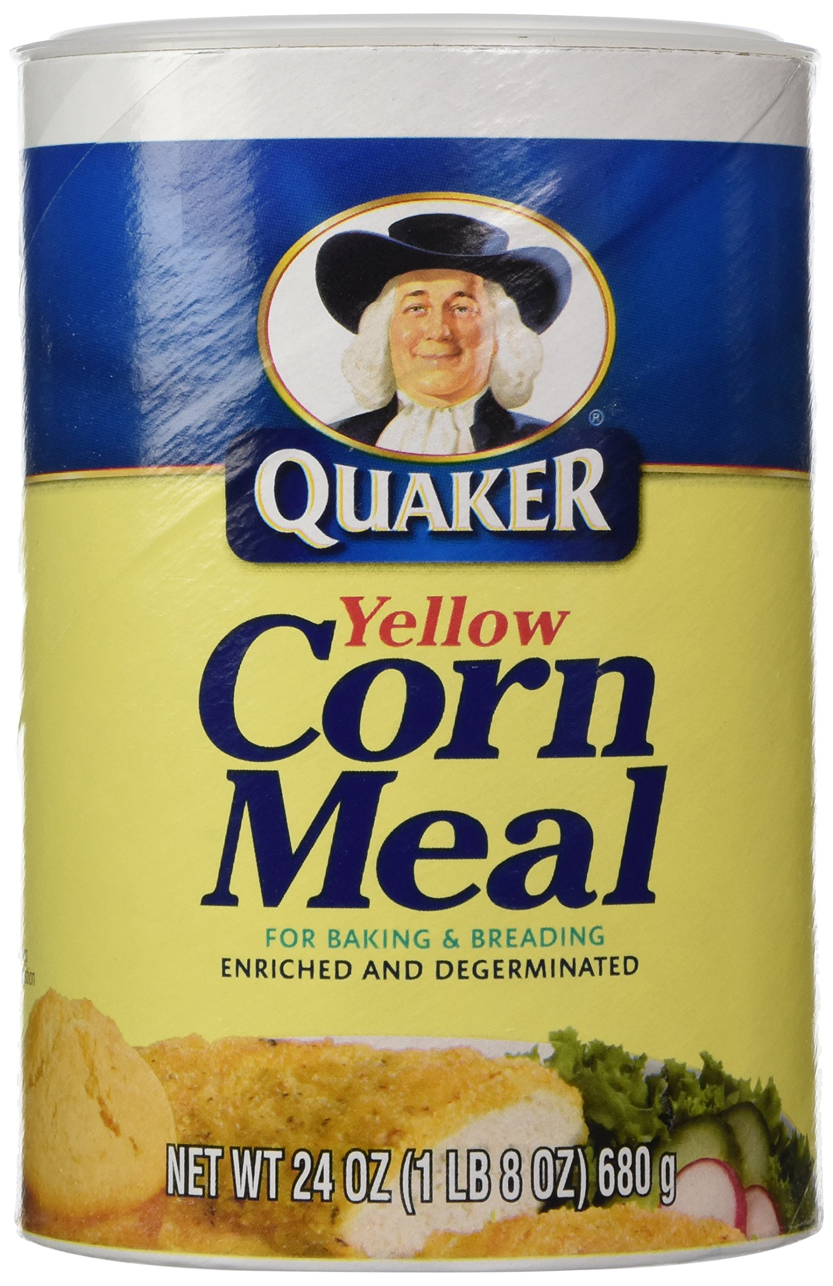 Quaker Corn Meal, Yellow, 24 Oz