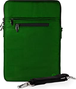 Slim 13-inch Vertical Sling Laptop Sleeve Bag fit for Dell Inspiron 14 7000 7405 7490 5406 5400, Latitude 14 3410 5410 7480 (Green)