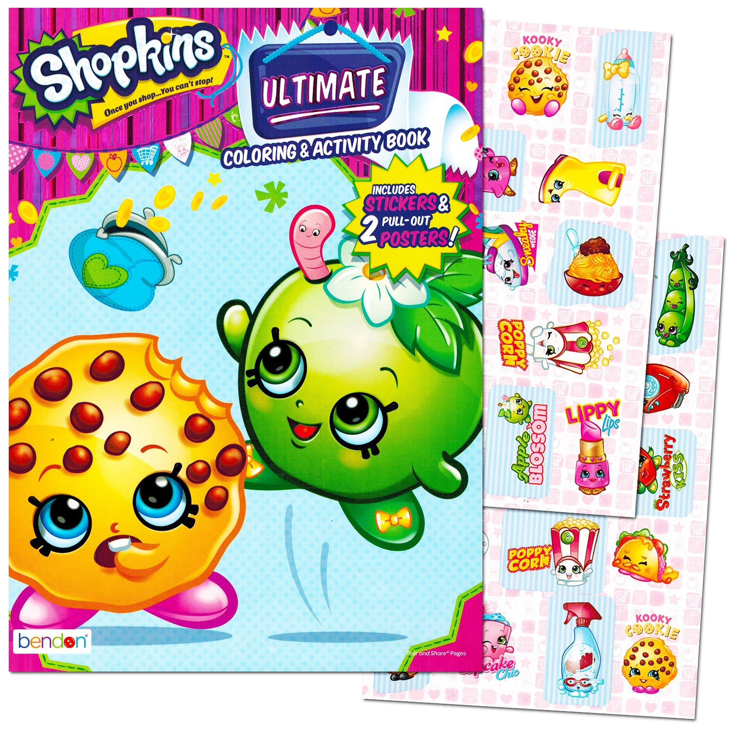 Amazon.com: Shopkins Coloring and Activity Book with Stickers and ...
