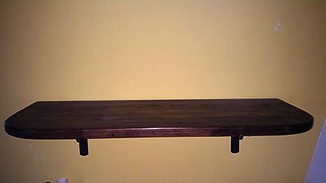 Ripiani In Legno Massello : Mensola di legno massello in arte povera 40x20x18mm: amazon.it: casa