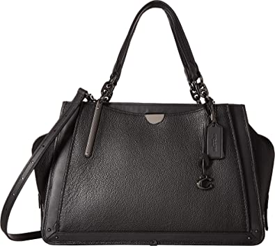 COACH Women s Mixed Leather with Pebble Dreamer 36 Gunmetal Black One Size   Handbags  Amazon.com 368ecd503b0eb