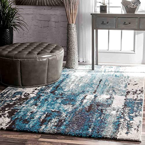 nuLOOM Haydee Abstract Area Rug, 3 x 5 , Blue
