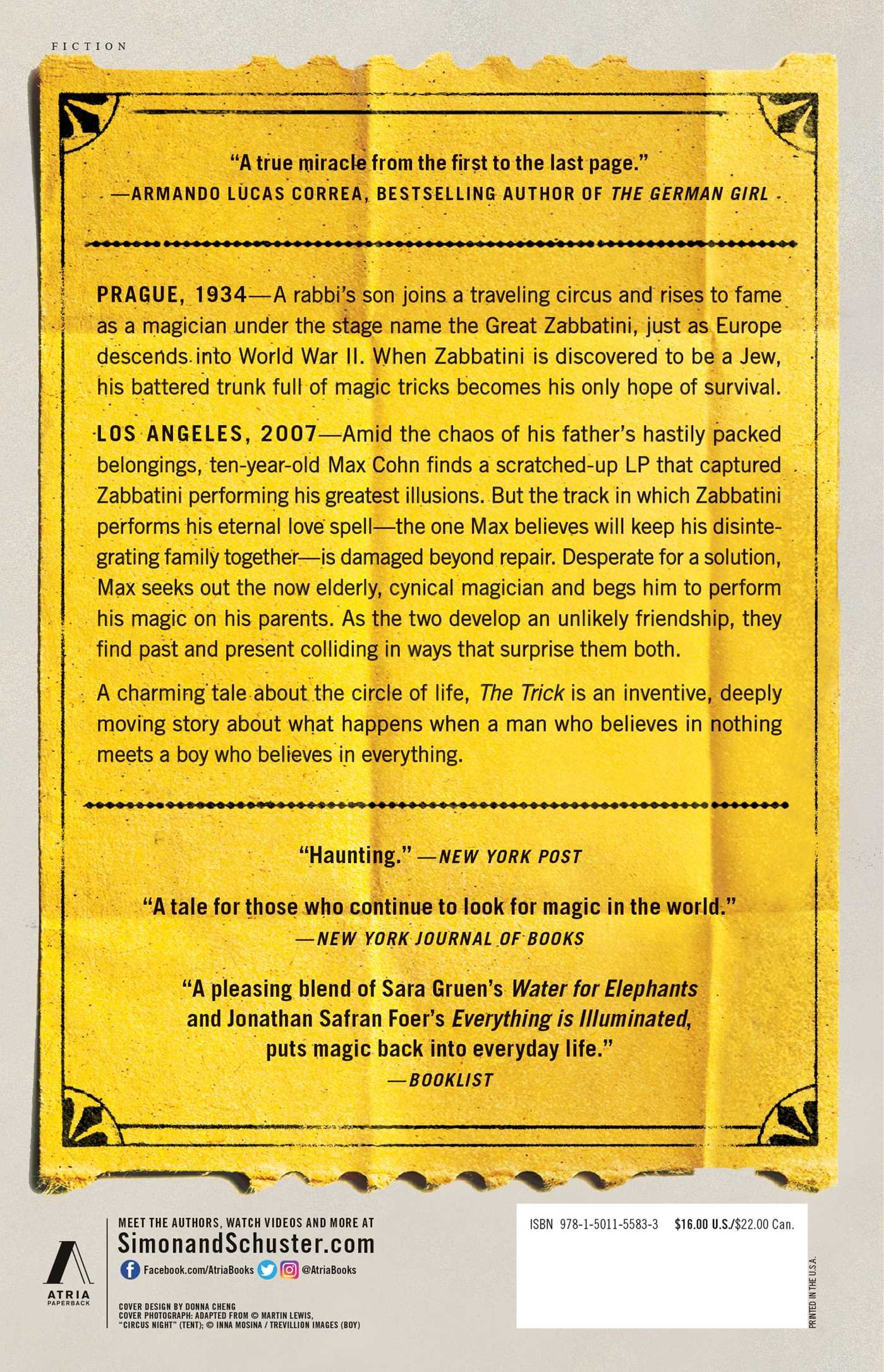 Amazon The Trick A Novel 9781501155833 Emanuel Bergmann Books