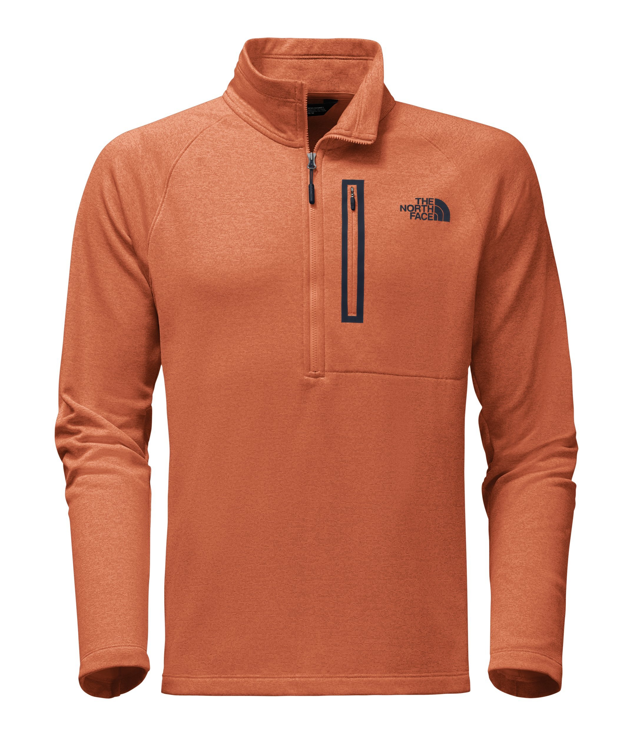 Galleon - The North Face Men s Canyonlands Half Zip - Weathered Orange  Heather - S 019234e4f