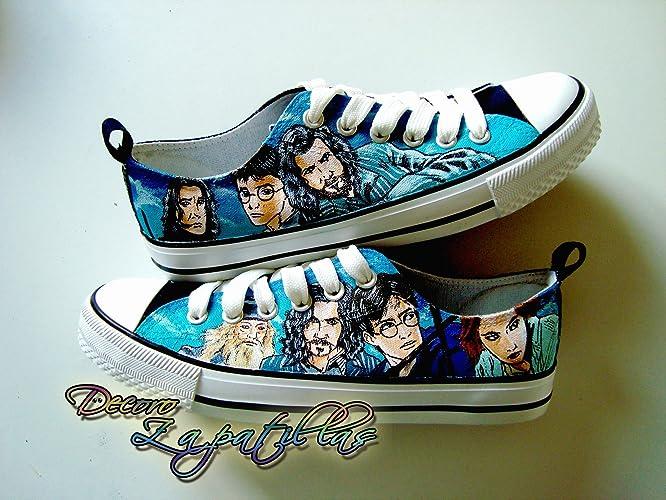 Zapatillas customizadas personalizados lona Harry Potter, regalos para cumpleaños - regalos para el - regalos
