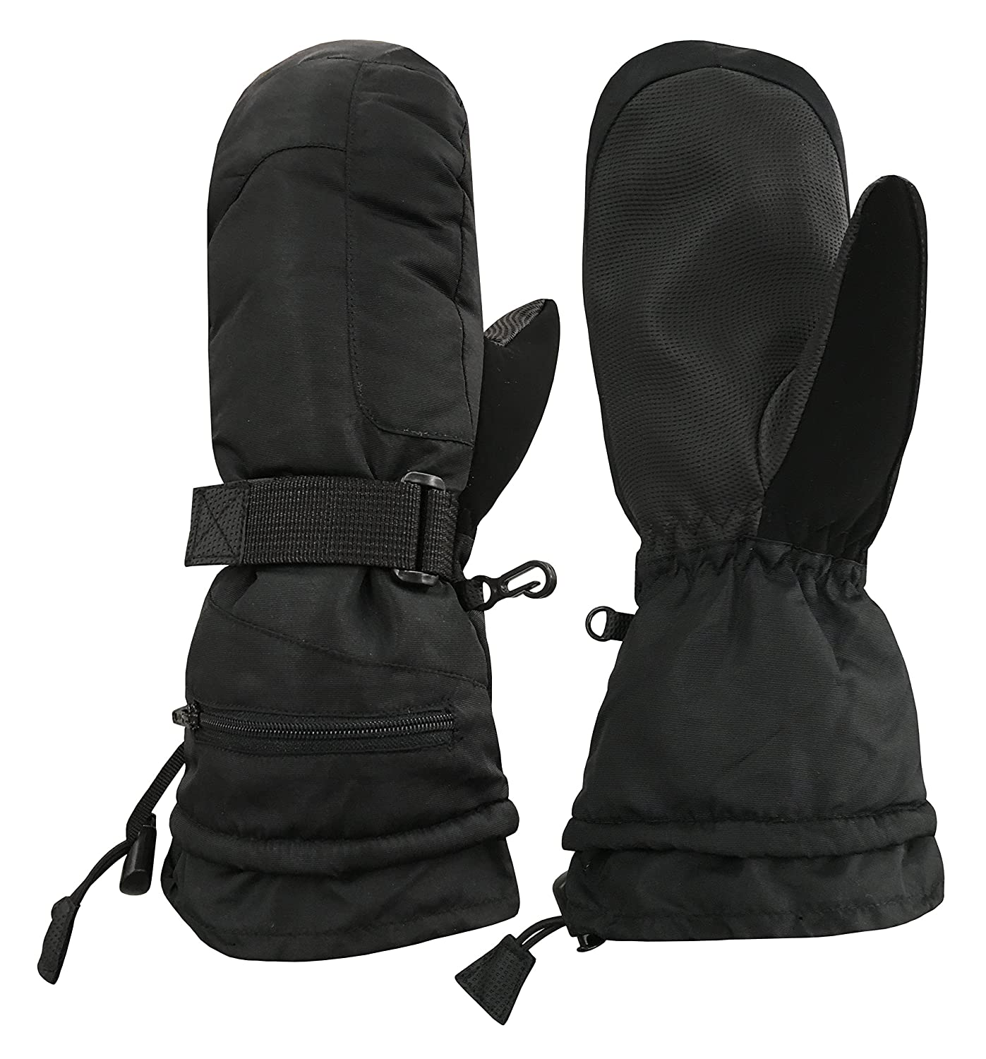 N'Ice Caps Unisex Adult 100 Gram Thinsulate Extreme Cold Weather Waterproof Winter Ski Mitten or Glove