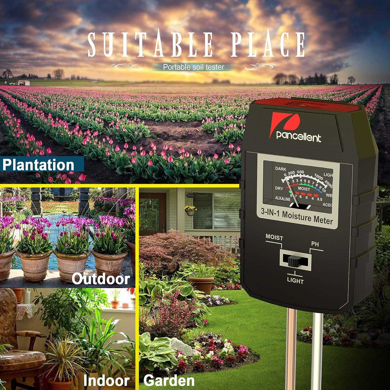 Knospe /& Trimmer Set. Mini-Rechen mit Gartenschere Pancellent Boden Feuchtigkeitsmessger/ät Pflanzen mit 9 Bonsai Werkzeug Faltenschere 3 in 1 Bodentester f/ür Feuchtigkeit//Sonnenlicht//pH-Tester