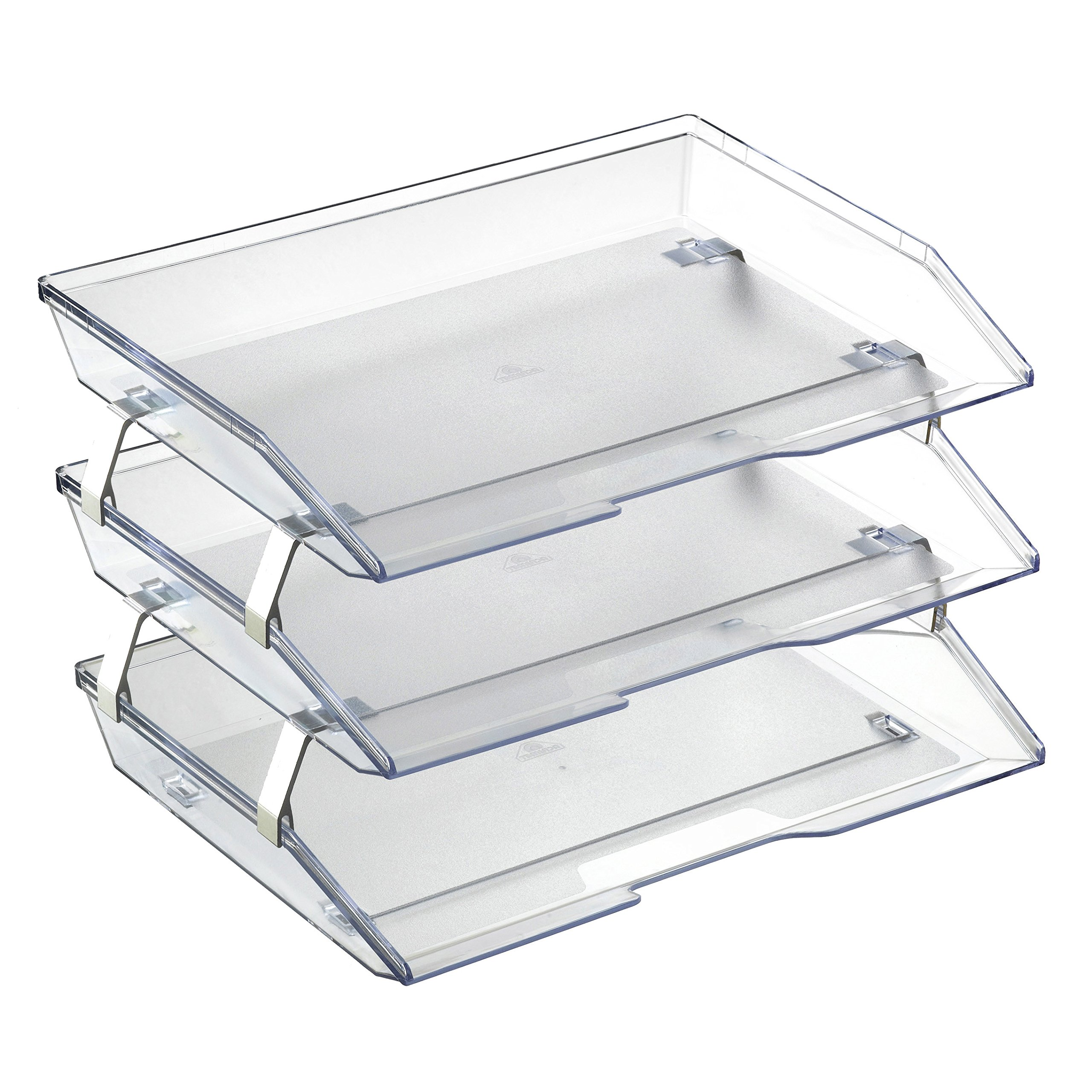 Acrimet Facility 3 Tiers Triple Letter Tray (Crystal Color)