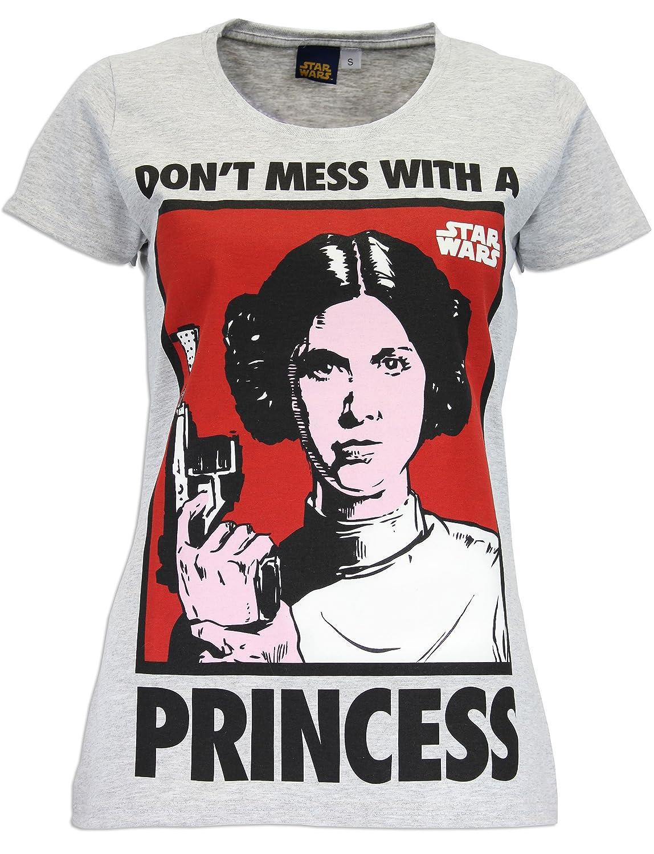 Star Wars - Princesse Leia T-Shirt à Manches Courtes - Femme