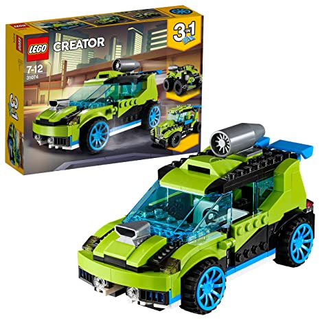 LEGO Creator 3in1 Rocket Rally Car Building Blocks for Kids 7 to 12 Years (241 Pcs) 31074 Model Car & Vehicle Kits at amazon