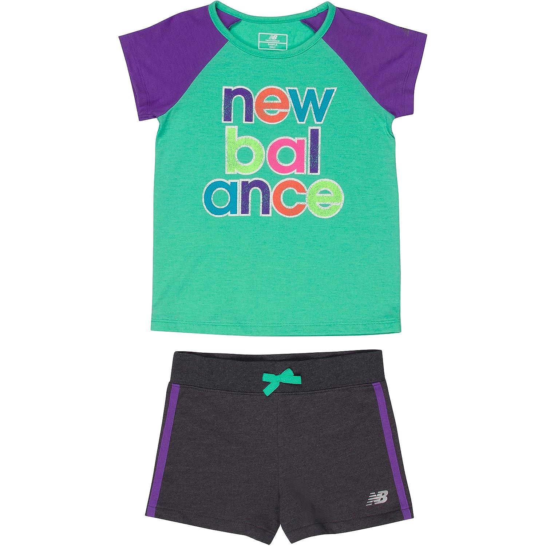 New Balance Girls' Performance Tee and Short Sets 12531