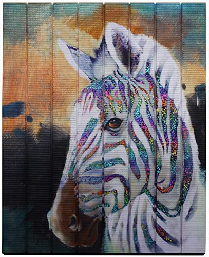 Creative Horse Modern Animal Artwork Painting Wall Art Ribbon Painting Bedroom Hallway Home Decor Unframed Original Creation Wood Framed Ready to Hang
