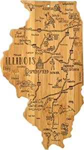 Totally Bamboo Illinois State Destination Bamboo Serving and Cutting Board
