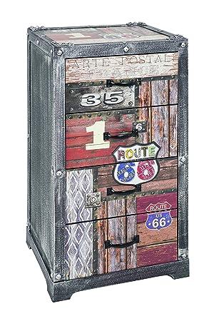 Haku Mobel Kommode Metall Vintage 39 X 36 X 77 Cm Amazon De Kuche
