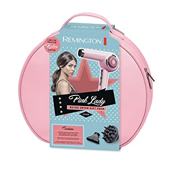 09d8fc6e9eb067 Remington D4110OP 2000 W Retro Hair Dryer, Pink Lady: Amazon.co.uk: Health  & Personal Care