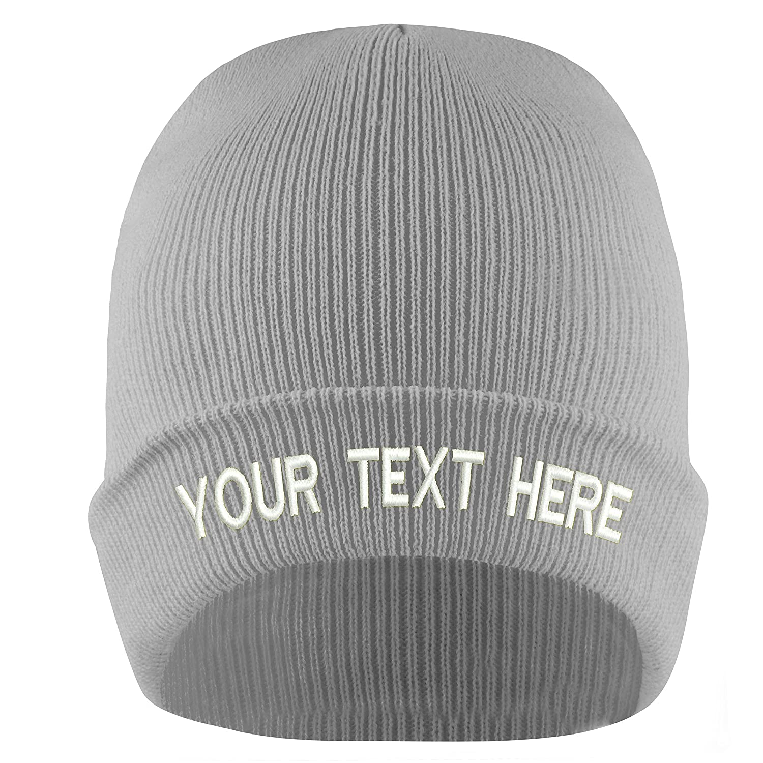 19 Colors Adjustable Personalized Embroidery Customized Knit Hat Cap for  Winter (Beige) at Amazon Men s Clothing store  05180e61a00