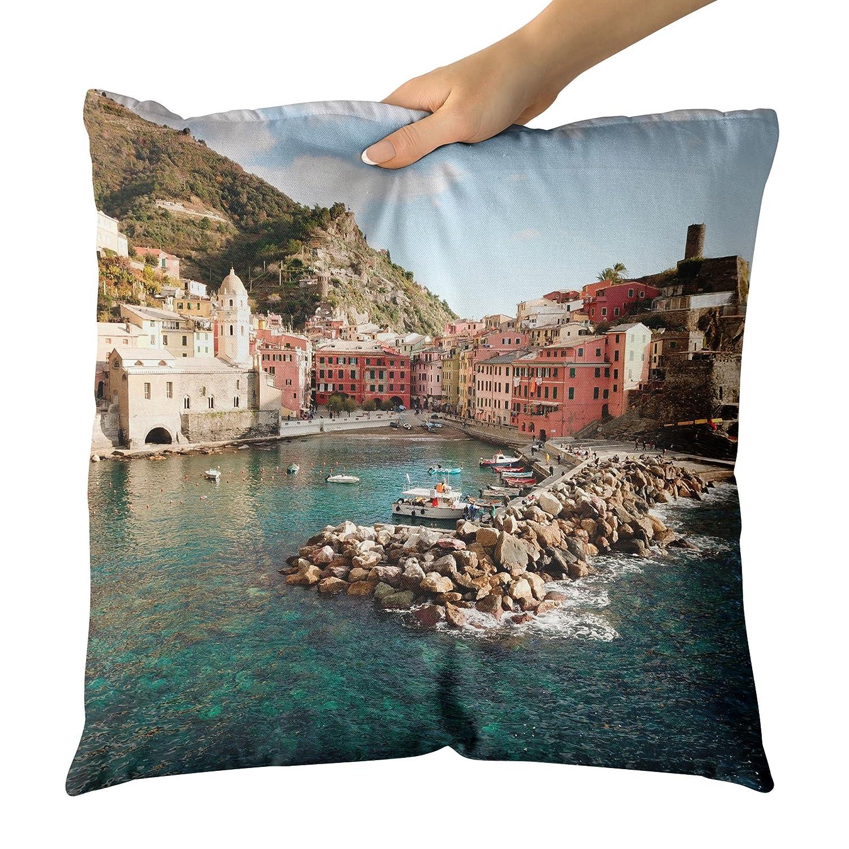 Westlake Art - Cojín Decorativo para Manta, diseño de mar de ...