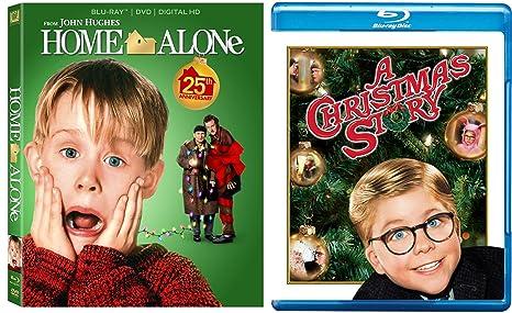 Home Alone Christmas.Amazon Com Home Alone 1 A Christmas Story 2 Blu Ray