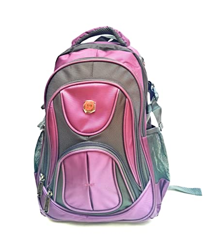 Tycoon Nylon and Polyester 20L Grey and Orchid Messenger