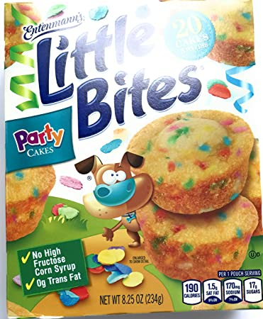 Entenmanns Little Bites Party Cakes 5 Pouches 20 Muffins
