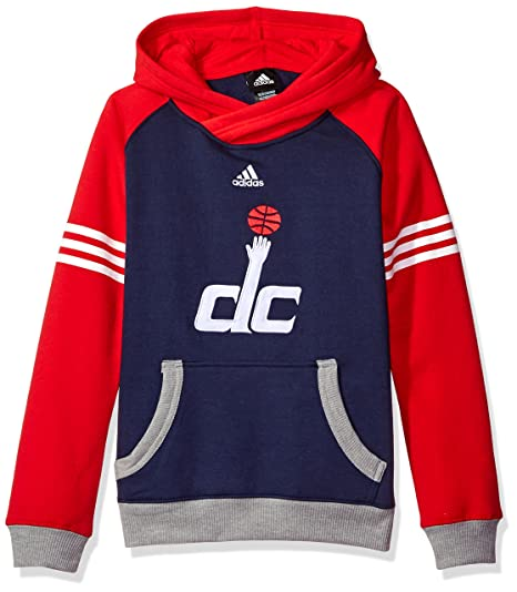 Washington Wizards Youth Gioventù NBA Adidas  quot Robust quot  Pullover  Hooded Sweatshirt Felpa 36ed5bc93a34
