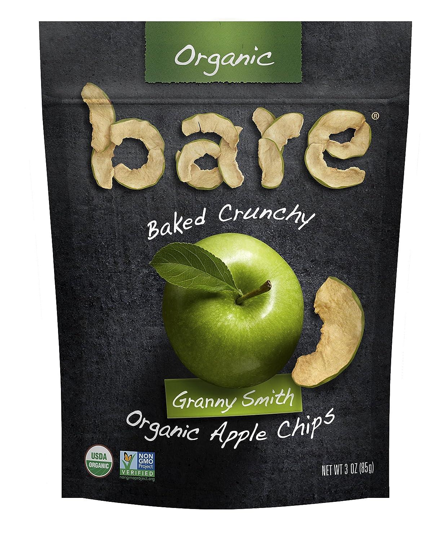 Bare Organic Apple Chips, Granny Smith, Gluten Free + Baked, Multi Serve Bag - 3 Oz (6 Count)