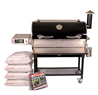 REC TEC Grills Bull | RT-700 | Bundle | Wifi Enabled | Portable Wood Pellet Grill | Built in Meat Probes | Stainless Steel | 40lb Hopper | 6 Year Warranty |...