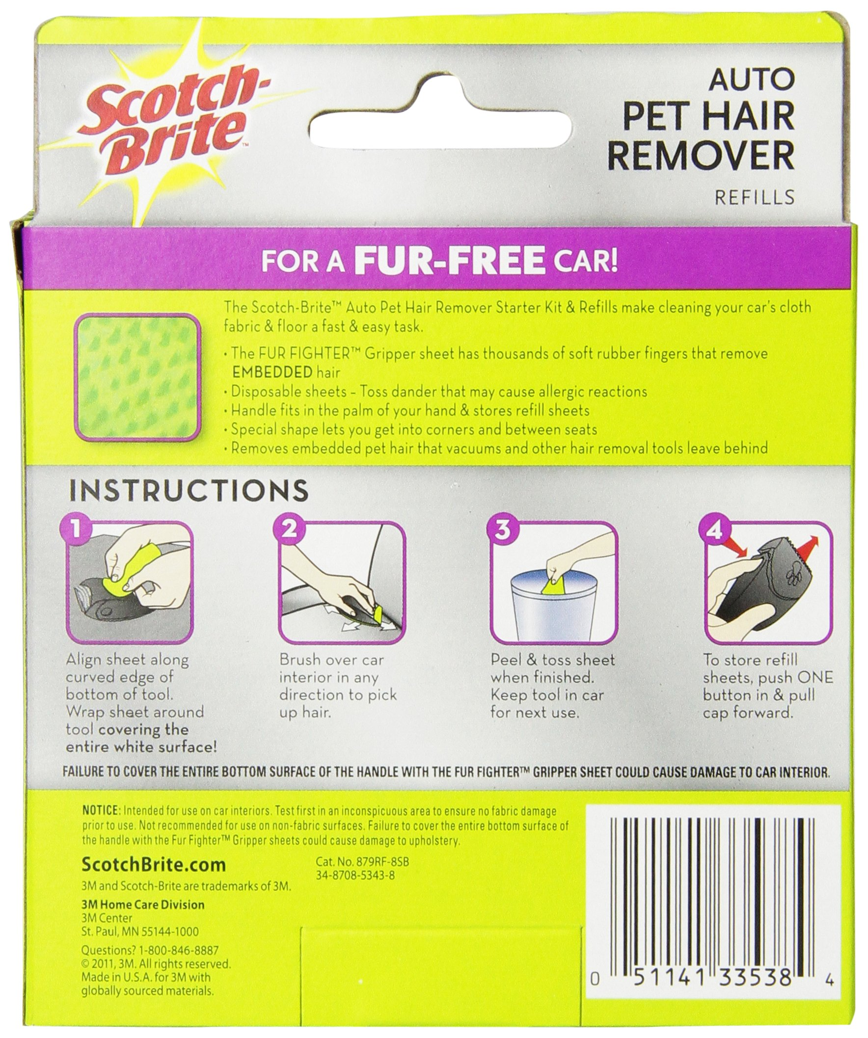 Scotch Fur Fighter Pet Hair Remover Refill (879RF-8) by Scotch (Image #2)