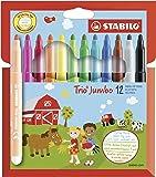 Dicker Filzstift - STABILO Trio Jumbo - 12er Pack - 12 Farben