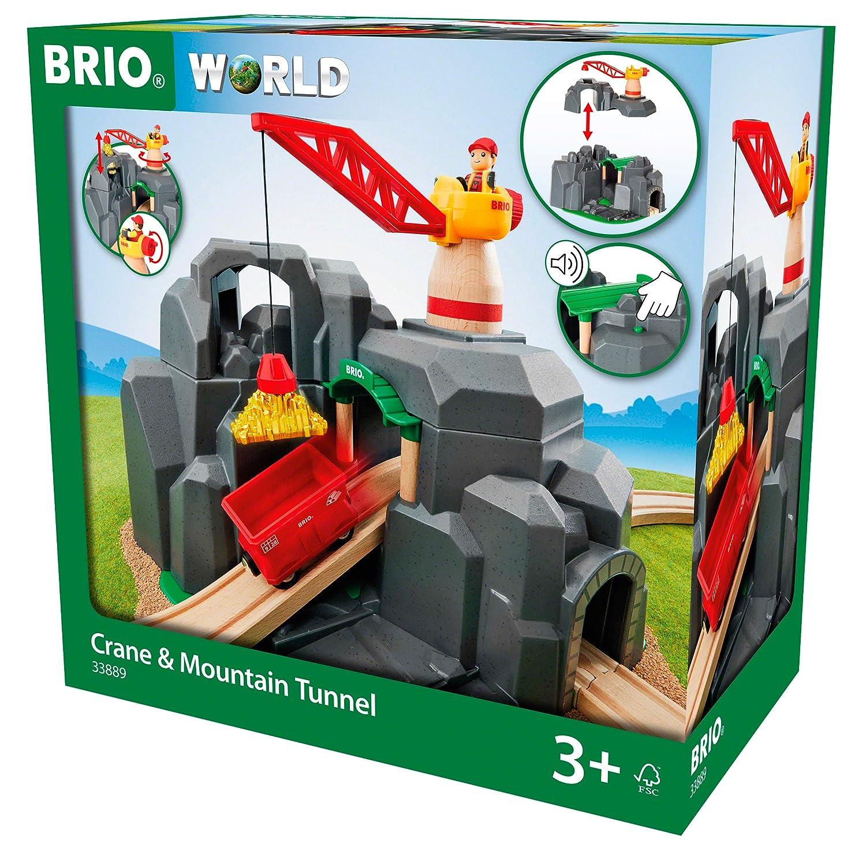 BRIO World  Crane and Mountain Tunnel