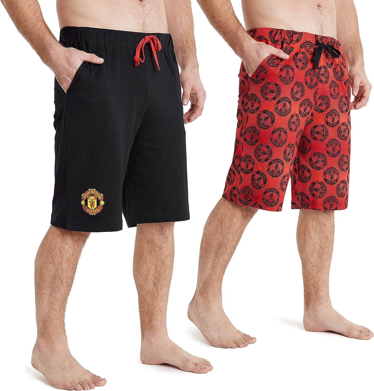 Manchester United F.C Pantalones Cortos Hombre Oficiales Regalos para Hombres y Adolescentes Ropa Deportiva Hombre de Futbol Pantalon Corto Deporte Hombre