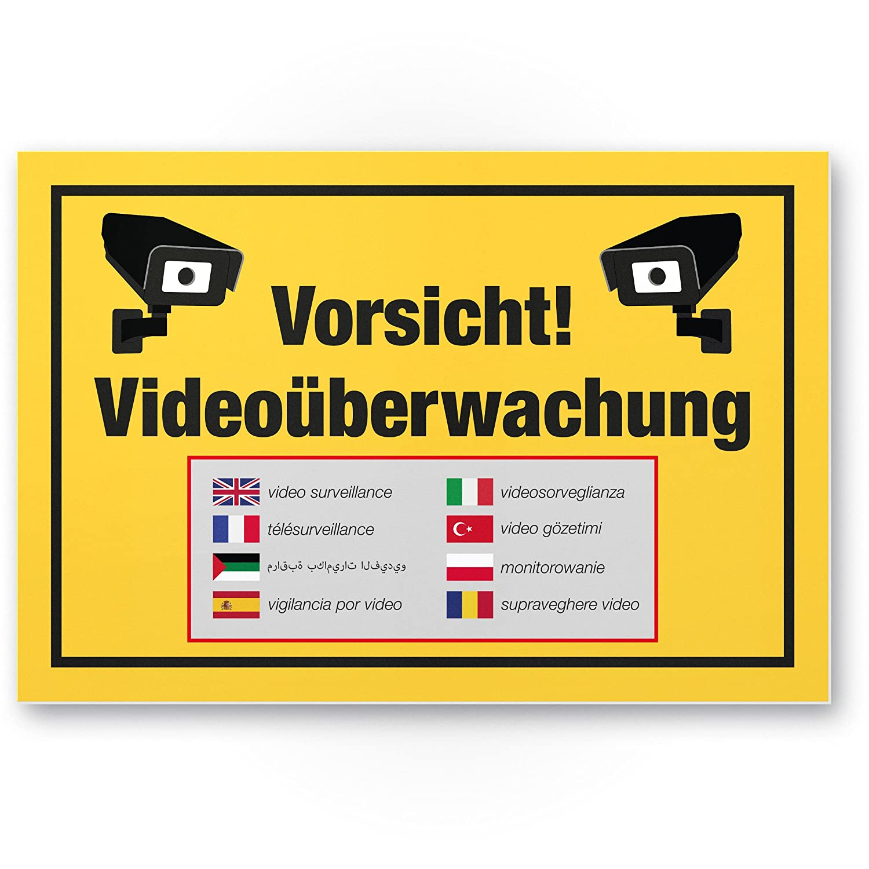 Vorsicht Videovigilancia Cartel (Amarillo 30 x 20 cm ...
