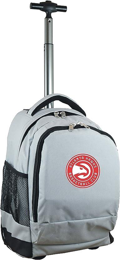 Denco Nba Atlanta Hawks Wheeled Backpack 19 Inches Grey Sports Outdoors Amazon Com