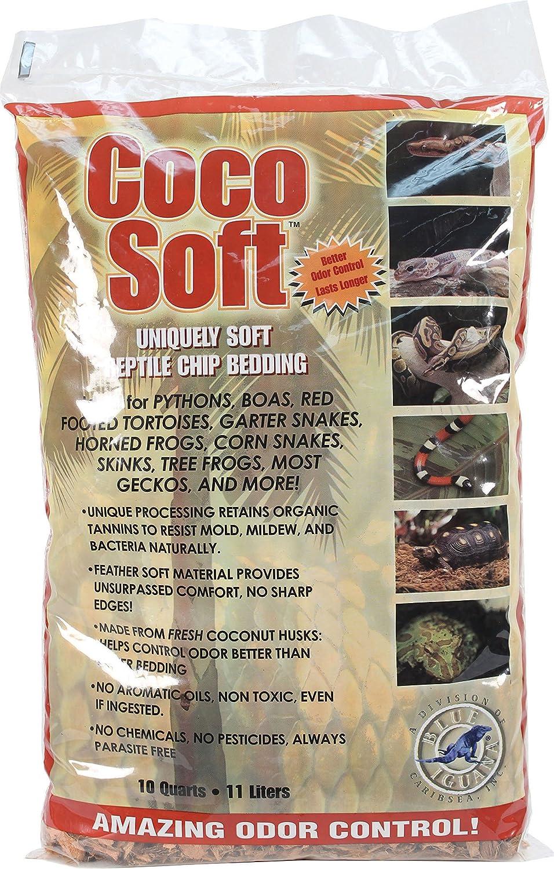 Carib Sea SCS00212 Coco Soft Reptiles Bedding, Fine Chip, 10-Quart TopDawg Pet Supply 008479002129