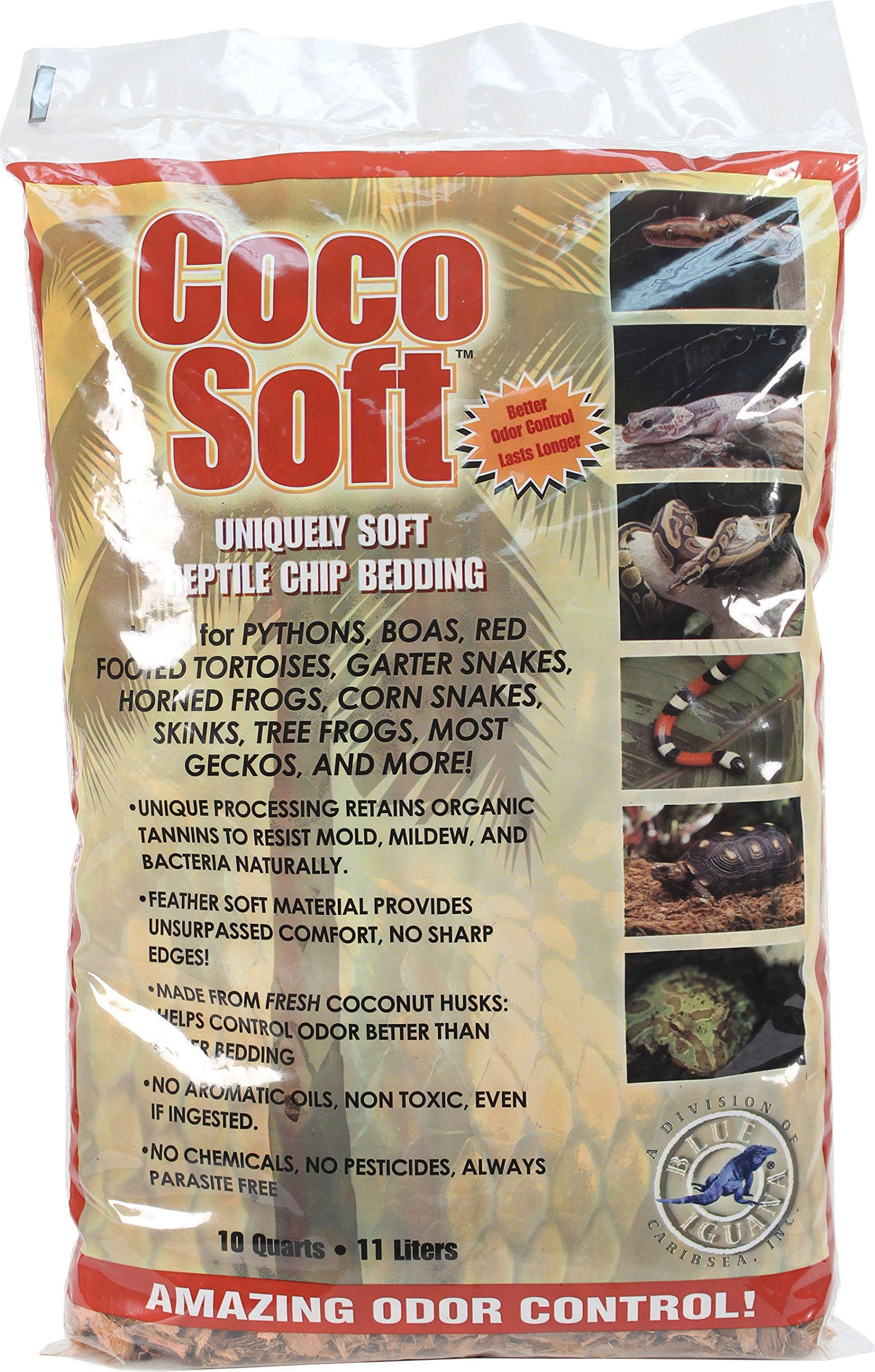 Carib Sea SCS00212 Coco Soft Reptiles Bedding, Fine Chip, 10-Quart