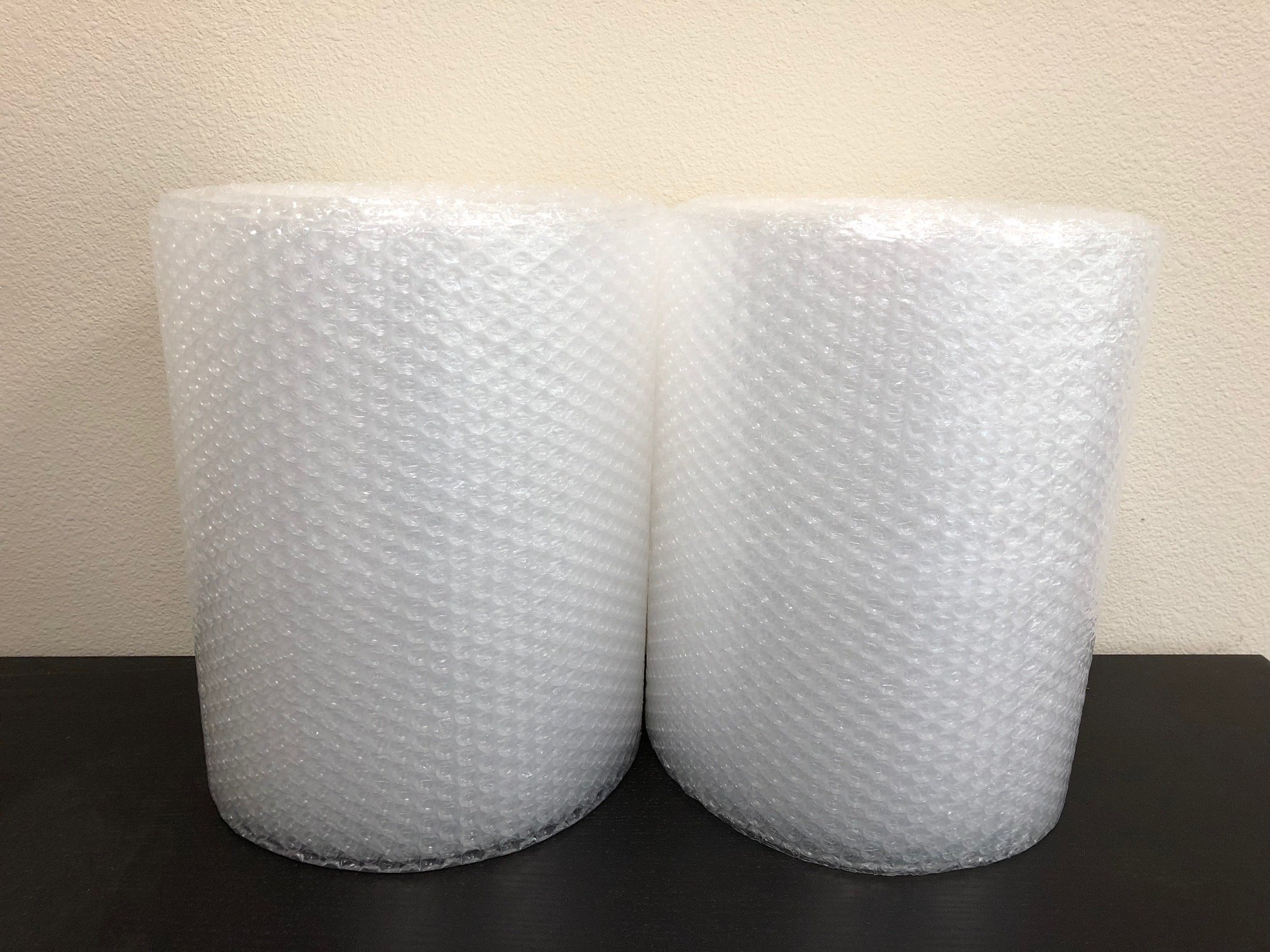 2-Pack Bubble Cushioning Wrap Rolls, 3/16'' x 12'' x 60' ft Total, Perforated Every 12'' for Packaging, Shipping, Mailing