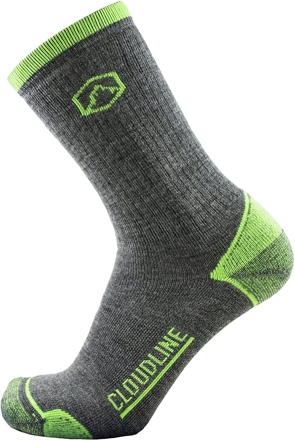 CloudLine Merino Wool Hiking & Trekking Crew Socks - Light Cushion - Made in USA
