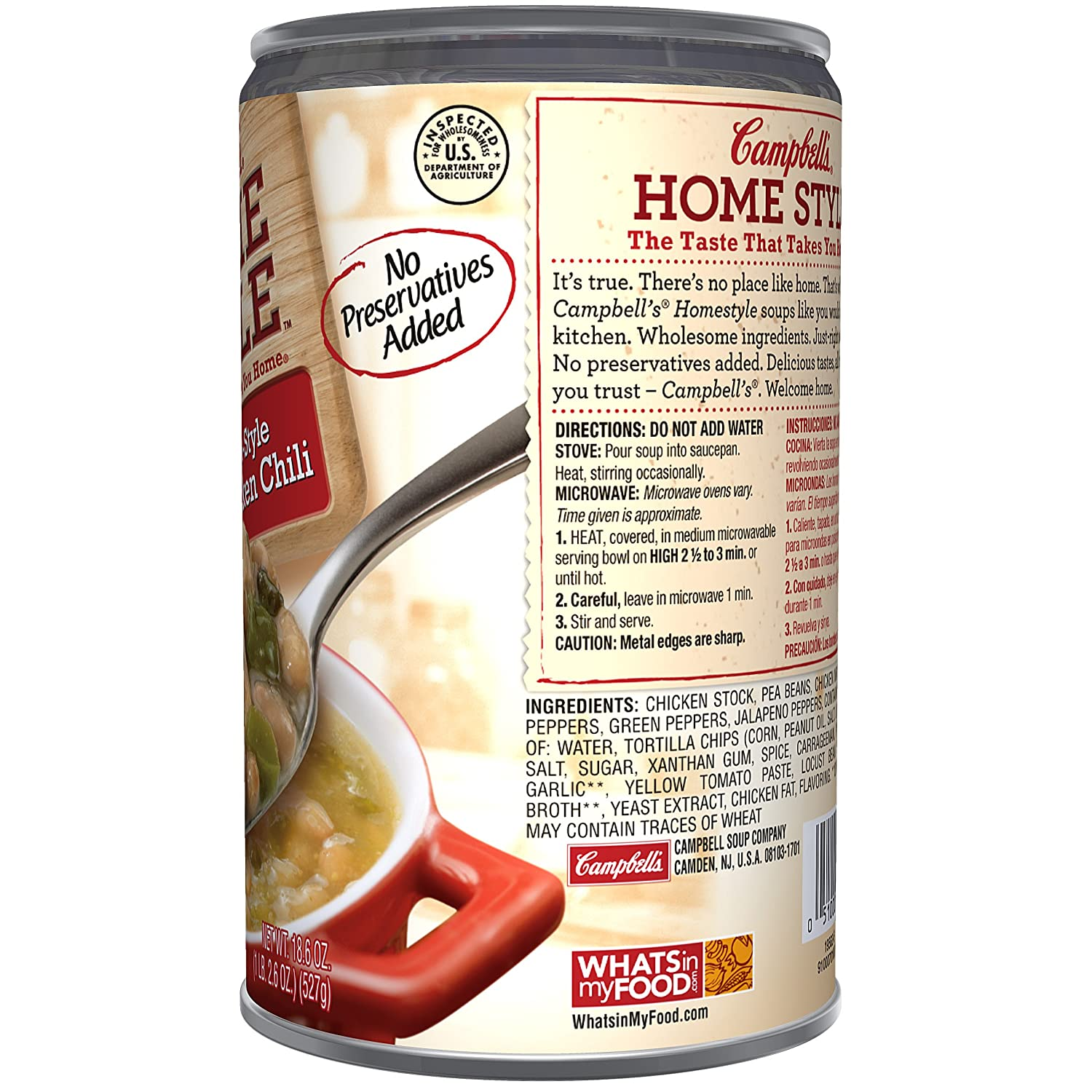 Amazon.com : Campbells Homestyle Soup, Southwest-Style White Chicken Chili, 18.6 Ounce (Pack of 12) : Packaged Chicken Soups : Grocery & Gourmet Food